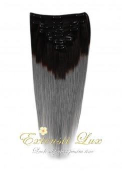 Extensii Clip-On OMBRE Negru Intens/Grey
