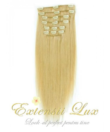 Extensii DeLuxe Clip-on Blond Miere #24