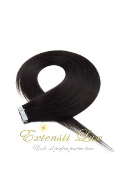 Extensii Tape-In DELUXE Negru Natural #1B