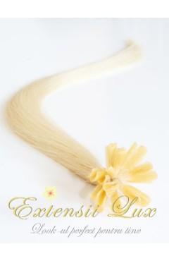 Extensii cheratina Blond Platinat #613