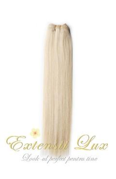 Extensii cusute Blond Platinat #613