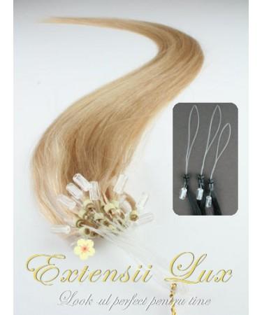 Extensii Microring DeLuxe Blond Aluna #12